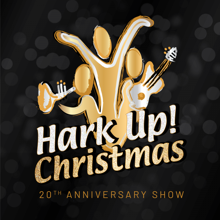 Hark Up Christmas Logo Black Background-01